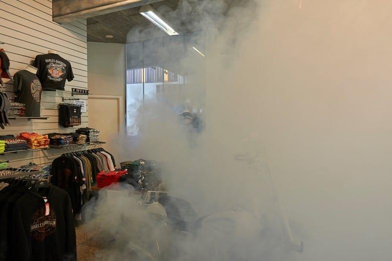 Η αντικλεπτική ομίχλη ασφαλείας κρύβει/προστατεύει υψηλής αξίας jackets της Harley-Davidson